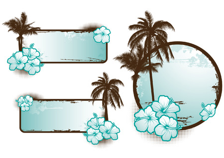 Tropical design elements Stock Vector - 5194852