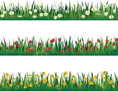 spring bed: flower elements  Illustration
