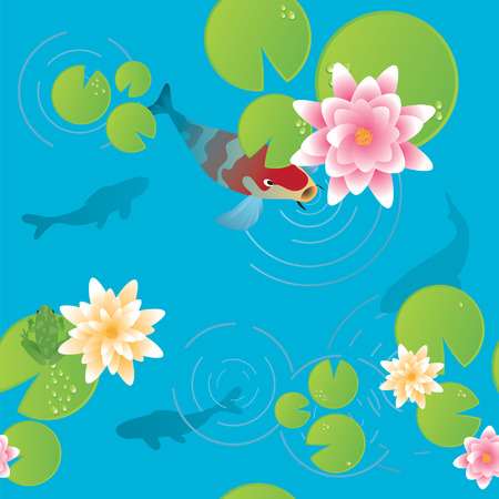 Koi Pond  Stock Vector - 5230550