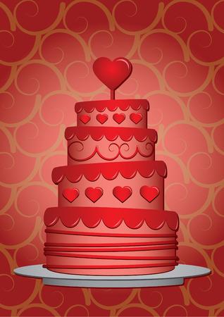 Valentines cake Vector
