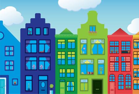 house gables: Ciudad colorido