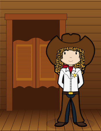 Girls on the Job - Cow Girl Vector