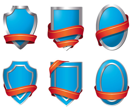 Shields - blue Stock Vector - 5584885
