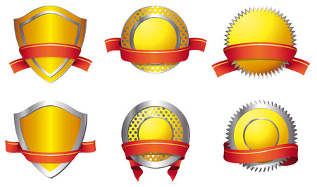 Shields - yellow Vector