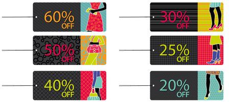 Fashion sale tags Vector