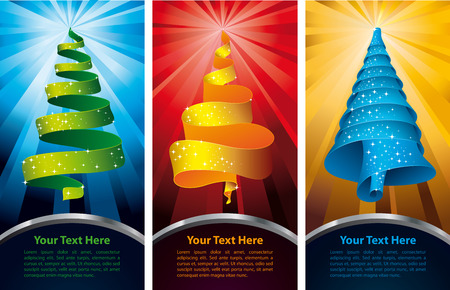 Christmas tree - banners Vector