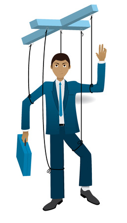 man working out: Businessman on a string
