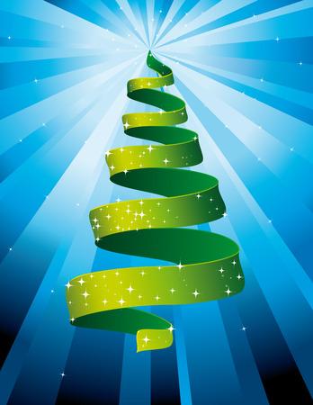 Sparkling Christmas tree Green Illustration