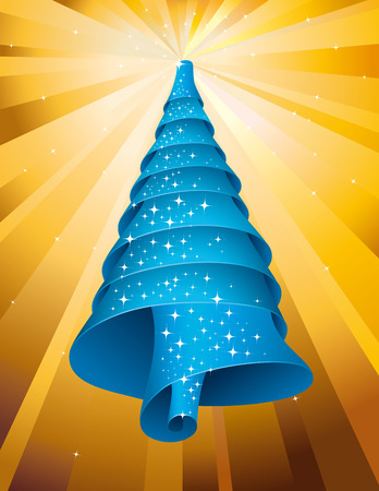 Sparkling Christmas tree Blue