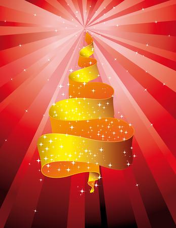 Sparkling Christmas tree Yellow