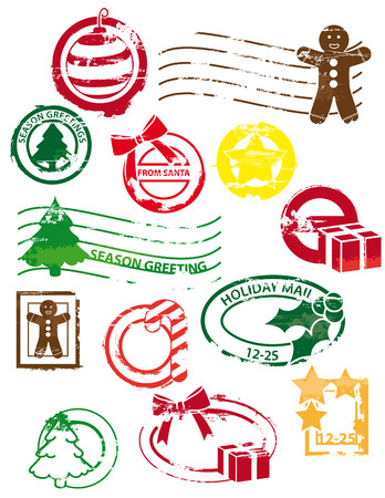 Christmas stamps Illustration