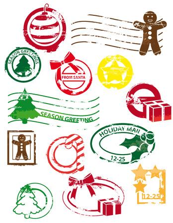 Christmas stamps Illustration