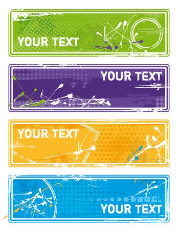 colorful grunge banner - vector Illustration