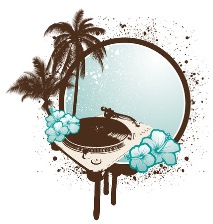 Tropical Turntable Vector