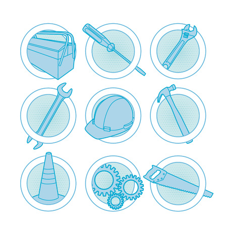 Tool icons blue