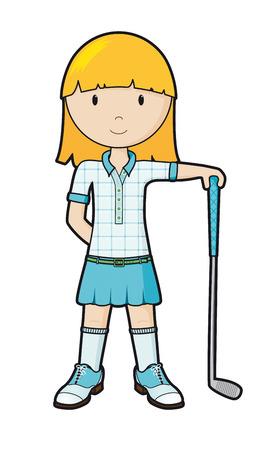 child sport: GolfGirl Illustration