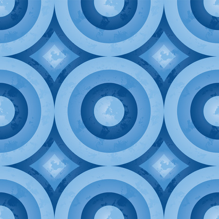 circle pattern: Seamless retro pattern with a grunge look.