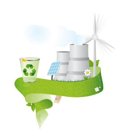 basura organica: reciclar banner  Vectores