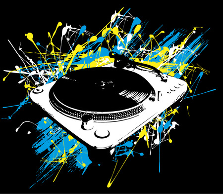 Turntable paint - vector