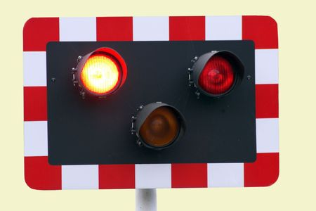 Level Crossing Lights, Train Coming