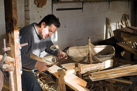 Village Trug-Maker in his workshop