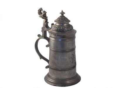 sadly: Bierstein antico (contenitore per bere) ha trovato nella repubblica ceca, tristemente nessuna storia disponibile ma nota i fori della barretta che consentono singolo bere passato!
