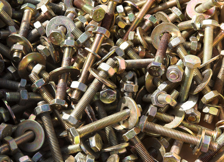 screws & bolts, with nuts & washers