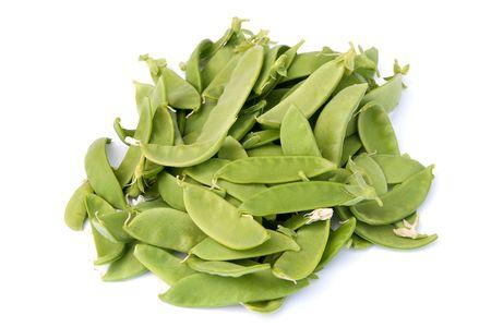Fresh picked Oregon Giant - snow-peas, mange-tout or sugarsnaps