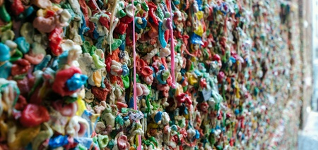 pike place market: Gum wall at Pike place market. seattle,WA USA Stock Photo