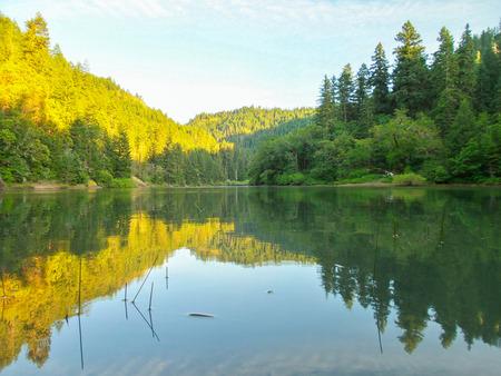 lost lake: Reflection on Lost Lake Stock Photo
