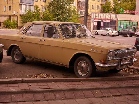 Karaganda, Kazakhstan - 2019-08-19: Soviet vintage car GAZ-24 Volga by the Gorkovsky Avtomobilny Zavod