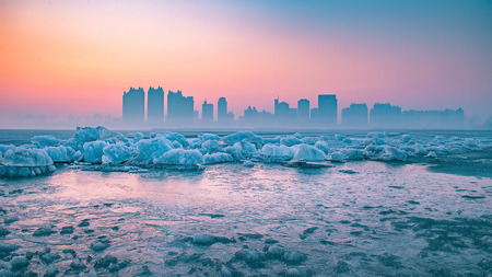 Songhua River during winter
