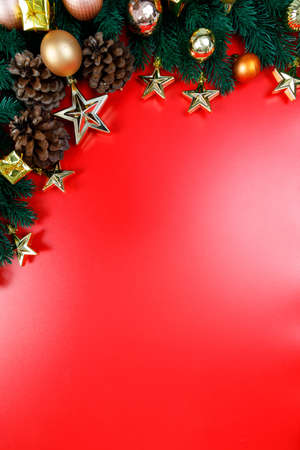 The background image for a presentation or to insert text greetings, Christmas holidays. Merry Christmas and Happy New Year.