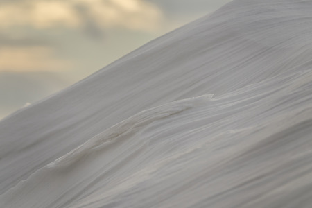 drifts from snow after a snowfall. Snow dunes.The surface is not level