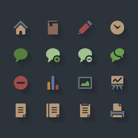 email icon: Vector Flat Icons for Web and Mobile