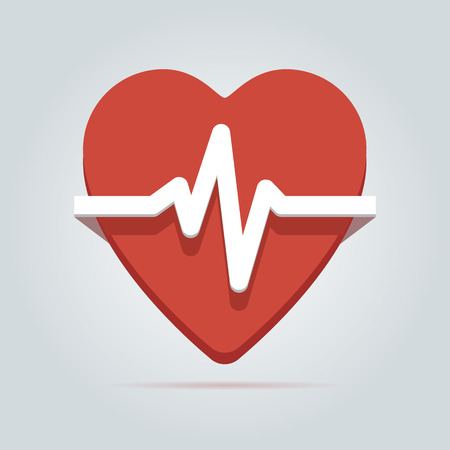 Heart beat rate icon  Vector illustration in EPS10