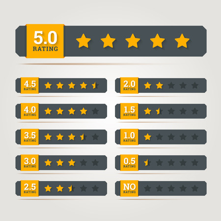 Rating stars badges. Vector illustration in EPS10.