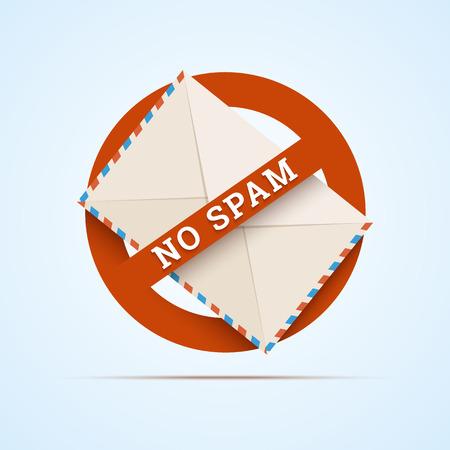 Geen spam illustratie.