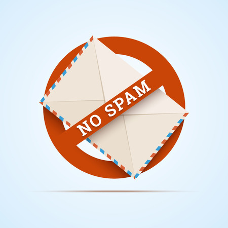 No spam illustration.  Illustration