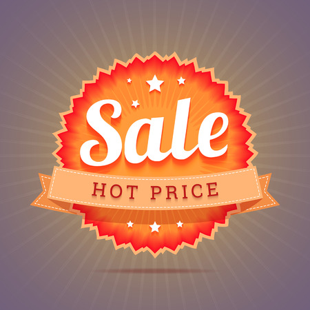 Hot price badge.  Vector