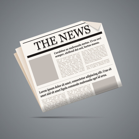 新聞のイラストです。