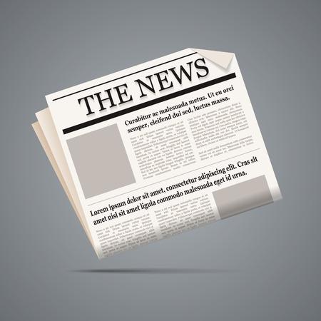 newspaper: Newspaper illustration.