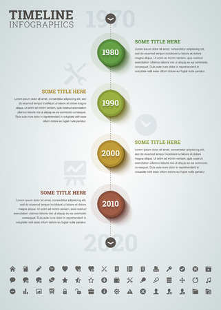 favorite number: Timeline infographic with icons.