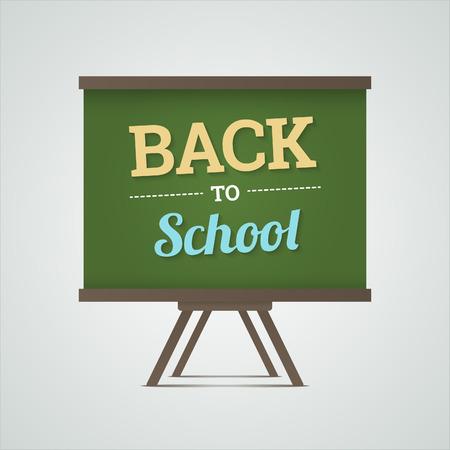 green board: Back to school illustration on green board  Vector illustration
