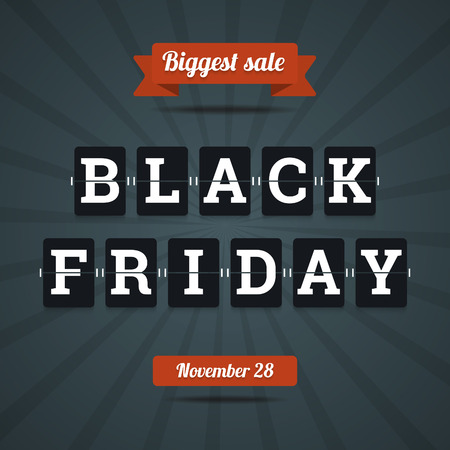 Black friday sale illustration in flat style. Vector