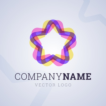 illustion: Company template with star shapes. Vector illustion. Illustration