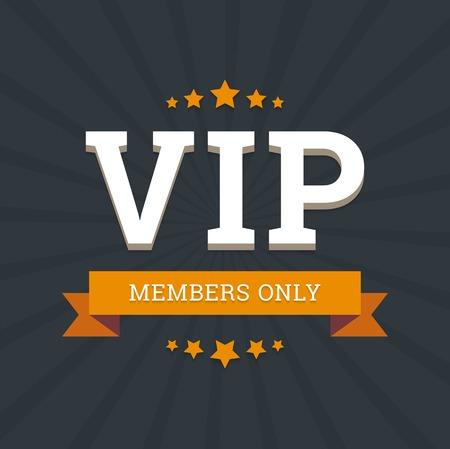 VIP - alleen voor leden vector achtergrond sjabloon met sterren en lint. Stock Illustratie