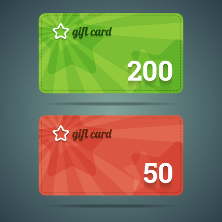 Gift card templates. Vector illustration in EPS10.