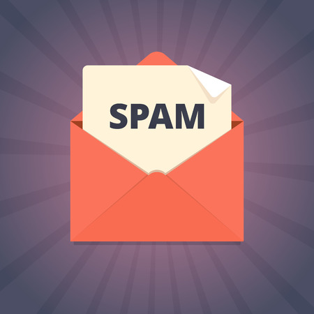 spam mail: Spam mail illustration in flat style.