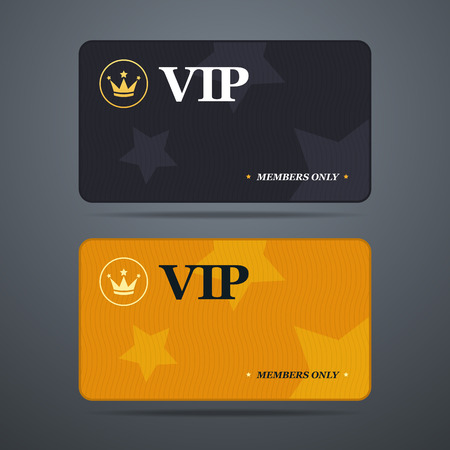 Vip card template with background. Vector illustration Çizim